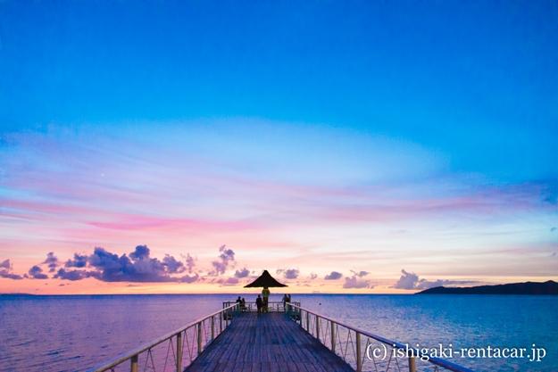 石垣島フサキビーチの夕日