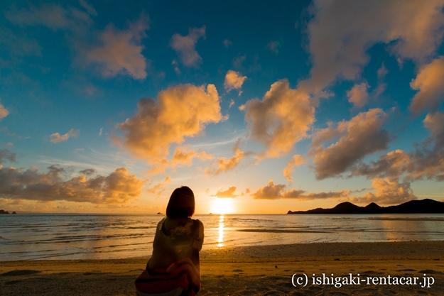石垣島底地ビーチの夕日
